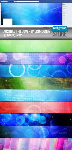 Abstract Facebook Timeline Cover Backgrounds