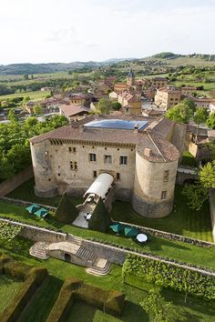"""Traveling back in time in the land of the Golden Stones "" at Château de Bagnols, France. #RelaisChateaux #Bagnols #Chateau #Castle"