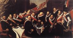 HALS, Frans Dutch Baroque Era (ca1582-1666)_Banquet of the Officers of the St. George Civic Guard 1616
