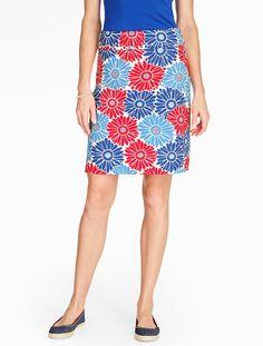 Bright Daisy A-Line Skirt - Talbots