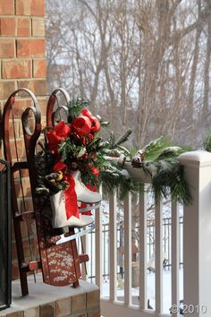 .cute Christmas on the porch