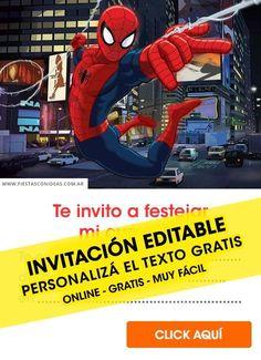 invitaciones hombre araña para editar gratis - Buscar con Google Spiderman Gratis, 4th Birthday, Shark, Baby Shower, Ads, Facebook, Google, Spider Man, Fields