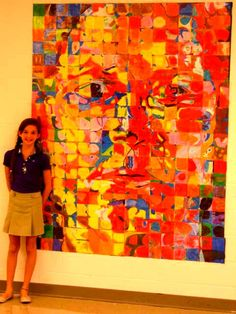 Chuck Close inspired drawing using crayons. Each fifth grade student copied 4 out of the 320 squares. Chuck Close, Art Projects, Group Projects, Art Inspiration Drawing, Egg Crafts, Collaborative Art, Art Installation, Pattern Drawing, Elementary Art