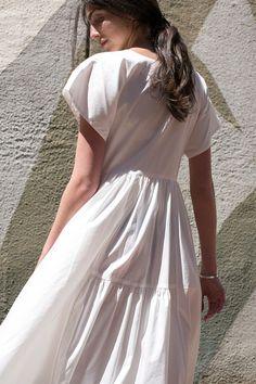 Maryam Nassir Zadeh Florenza Dress White Poplin / rennes