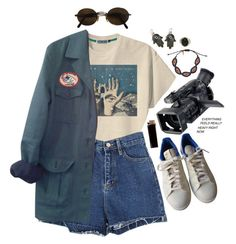 """savage planet"" by celluloid ❤ liked on Polyvore featuring Retrò, adidas, HUGO, Moschino, Zayiana, GAS Jeans and Kieselstein-Cord"
