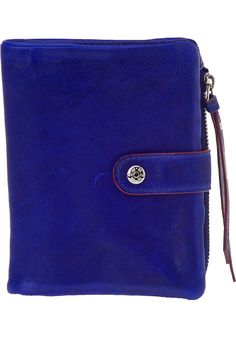 M Z Wallace - Ingrid Wallet Cobalt Blue Leather :  handbag leather goods accessories accessory