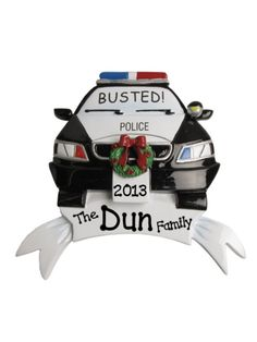 4 Police Car Ornament #OR434 | Wholesale Accessory Market