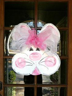 Chubby Cheek Bunny Door Hanger by BronwynHanahanArt on Etsy, $45.00