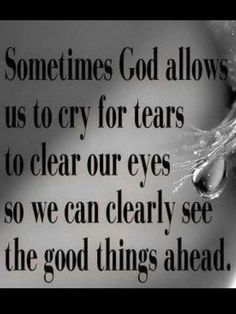 Tears can help us see clearer
