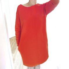 Czerwona Gruba Sukienka Bez One Mug a Day