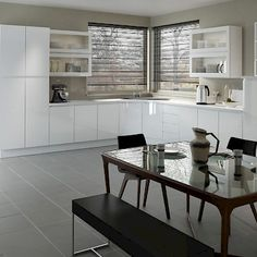 Handle-less kitchen units are super sleek and help keep your design lines clean and uncluttered.