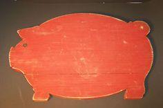Neat red pig cutting board