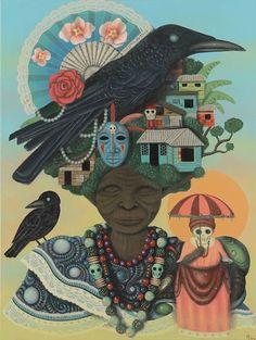 Paul Lewin Art. This reminds me of Nanu/Nana Buruku and the Ancestral Mothers. Ashe!