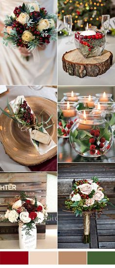 red and blush christmas wedding ideas for winter brides