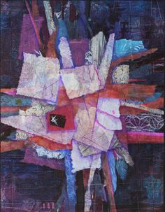 Obi-No-2 by Denise Oyama Miller. Workshop on Mixed Media Collage in Art Quilts – October 2013