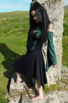 Moonmaiden Gothic Clothing - Elven Huntress cotton goth Dress