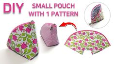 DIY Small pouch with 1pattern/Zipper pouch/Pattern sharing/지퍼파우치만들기/작고 귀여운파우치 만드는법[JSDAILY] - YouTube Couture, Sunglasses Case, Coin Purse, Diy Bags, Purses, Wallet, Sewing, Pattern, Fabric Purses
