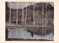 M. Nesterov Early Spring Print Postcard  by RussianSoulVintage