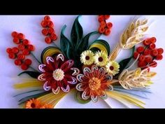 Art & Craft How to make Beautiful Quilling Orange/white Flower design -Paper Art Quilling - YouTube