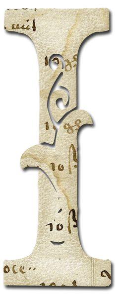 Alfabeto papel antiguo...I