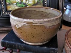Pottery Bowl Rustic Brown Ceramic Bowl Handmade by ktotten
