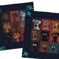 Featured in the November/December 2010 Issue of Love of Quilting.The dog and cat blocks in these quilts are interchangeable. Combine them in the same quilt if you have both pets.MAde by Kimberly Rado and available for download !