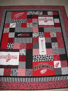 Made this for my new son-in-law who is a Red Wings hockey fan.