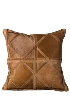 a3f3c386 Natural Leather pillow Leather Pieces, Natural Leather, Criss Cross, Home  Decor Outlet,