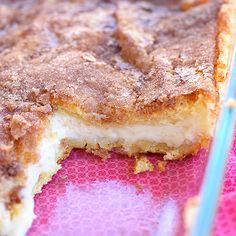 Easy Sopapillas - crescent rolls, cream cheese, sugar cinnamon and butter!  YUM!