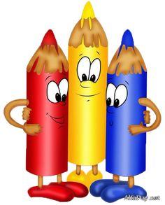 "Photo from album ""Карандаши,ручки"" on Yandex. Art School, Back To School, School Clipart, School Decorations, Smileys, Cartoon Kids, Cute Drawings, Classroom Decor, School Supplies"