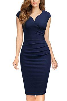 Miusol-Womens-Vintage-Slim-Style-Sleeveless-Business-Pencil-Dress - Dresses for Work Elegant Outfit, Classy Dress, Classy Outfits, Chic Outfits, Dress Outfits, Picture Outfits, Women's Dresses, Casual Dresses, Dresses For Work