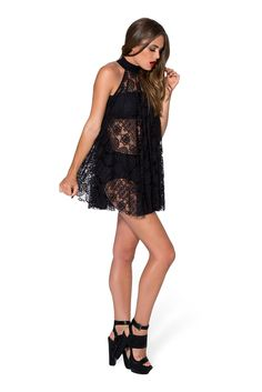 Little Lies High Neck Dress - this with a solid black dress underneath My Black, Solid Black, Black Milk Clothing, My Beauty, Sexy Legs, Skater Dress, Designer Dresses, Fashion Beauty, Cute Outfits