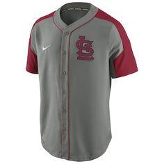 f0761223b1 St. Louis Cardinals Nike Dri-FIT Woven Jersey - Gray/Red Cardinals Jersey