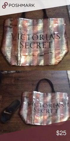 Victoria's Secret Shoe next to bag to show size Victoria's Secret Bags Totes