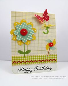 Fourth birthday card by Vanessa Menhorn