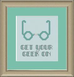 Get your geek on crossstitch pattern by nerdylittlestitcher, $3.00