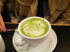 Matcha latte at Shoryu