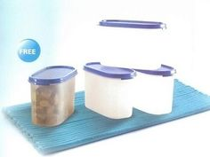 Tupperware oval canister (set of 3 pcs). Organize your kitchen the Tupperware way