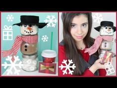 DIY Holiday GIft Idea: Hot Cocoa Snowman Jars! - YouTube