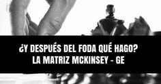 ¿Y después del FODA qué hago? La Matriz McKinsey GE para tomar decisiones estratégicas https://mercadotecniacucharadas.blogspot.mx/2016/07/y-despues-del-foda-que-hago-la-matriz.html
