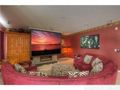 Watch a movie in style in this media room --- 10168 Powers Lake Point, Woodbury, MN 55129 —