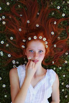 photography portrait nature red hair long hair Freckles Maja Topcagic Asima Sefic