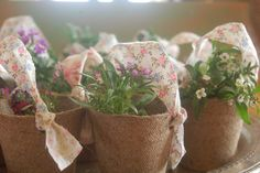 Cute small spring gift to give at Easter.....or use as place settings on a table.