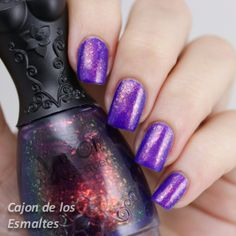 Nfu oh 51 nail polish. Cutest nail polish bottle ever! Jelly base with multicolored flakies over a purple base