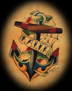Faith anchor tattoo