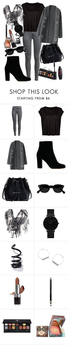 """""""Grey Day"""" by catgirll ❤ liked on Polyvore featuring CLUSE, Proenza Schouler, Avon, Clarins, Anastasia Beverly Hills and Benefit"""