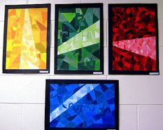 Art Education Blog - Abstract name art with tints and shades.