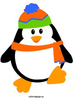 Penguin with hat and scarf