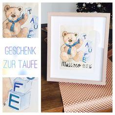 https://m.facebook.com/KunststattKitsch/ Geschenk zur Taufe Aquarell handgemalt
