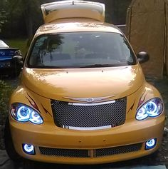 Mike Herron's 2006 PT Cruiser Route 66 Edition, Custom HALO Creations headlight and fog light set installation Pt Cruiser Accessories, Cruiser Car, Bmw X5 E53, Chrysler Pt Cruiser, Route 66, Cool Cars, Halo, Car Kits, Awesome